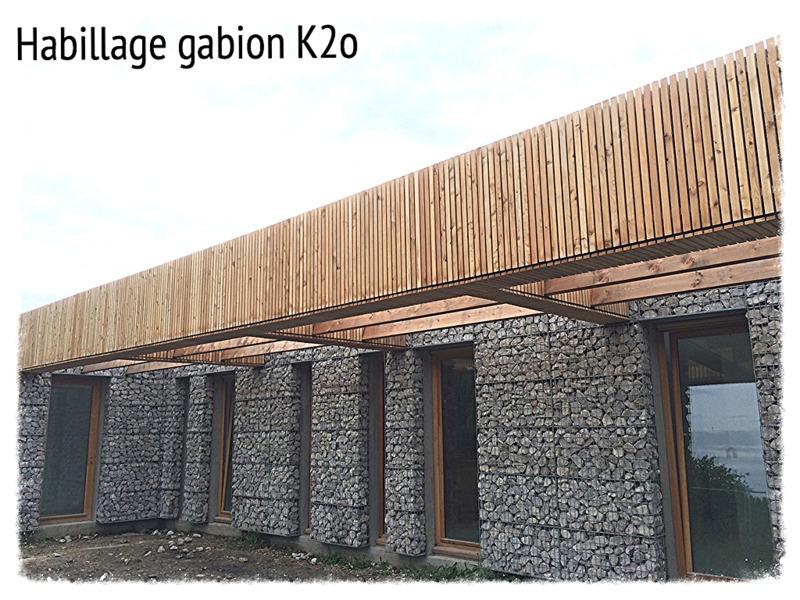 Gabion k2o habillage de fa ade gabion for Habillage mur cloture